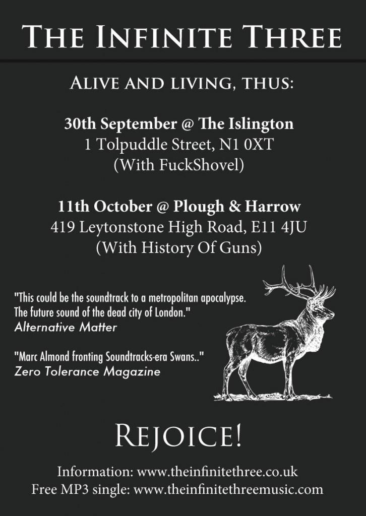 The Infinite Three - Live shows Septemebr / October