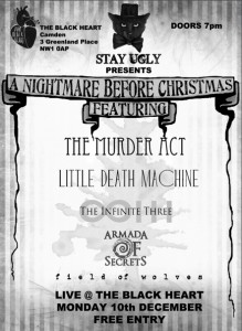 Stay Ugly @ The Black Heart, 10th December