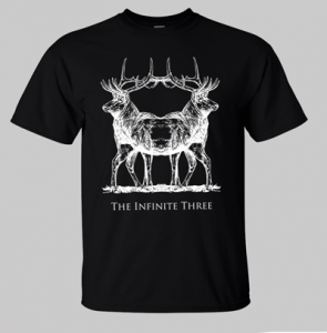 The Infinite Three - Winter Solstice Double Headed Stag Shirt